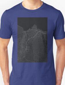 Trondheim, Norway Map. (White on black) T-Shirt