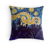 Hogwarts Starry Night Throw Pillow
