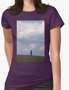 landscape hilly Womens Fitted T-Shirt