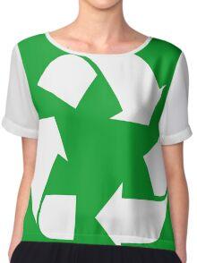 White Reduce, Reuse, Recycle, Repurpose, living green Chiffon Top