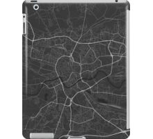 Krakow, Poland Map. (White on black) iPad Case/Skin