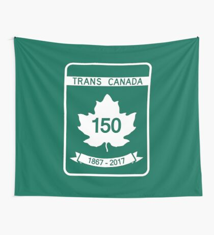 Trans Canada 150 Celebrations 1867 - 2017 Wall Tapestry