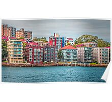 Sydney Harbour Water view apartments Poster