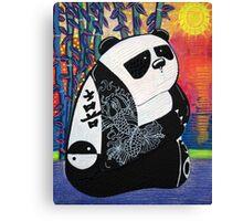 Panda Zen Master Canvas Print