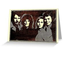 ABBA 1978's computer graphic design. ASCII art restored by Inspiredpeople! Greeting Card