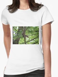 squirrel on the tree Womens Fitted T-Shirt