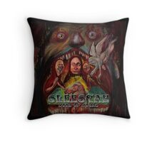 Sleestak - Book Of Hours (color) Throw Pillow