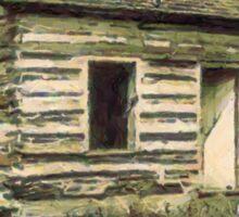 A digital painting of First School House, Vienna, Virginia, USA 1927 Sticker