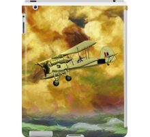 WWII Swordfish biplane of the Royal Navy - pillow & tote design iPad Case/Skin