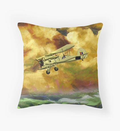 WWII Swordfish biplane of the Royal Navy - pillow & tote design Throw Pillow