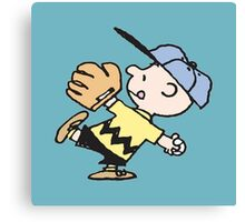 Charlie Brown Baseball Canvas Print