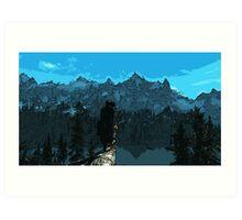 Beauty of Skyrim Art Print