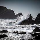 Crashing Waves at Marloes Sands, Pembrokeshire.  by Heidi Stewart