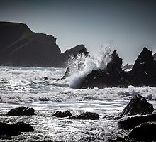 Crashing Waves at Marloes Sands, Pembrokeshire.  by Heidi Stewart
