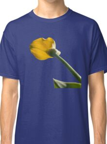 Yellow calla lily greets blue sky Classic T-Shirt