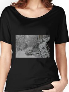 Montreal Snow Winter Scene Women's Relaxed Fit T-Shirt