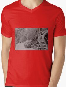 Montreal Snow Winter Scene Mens V-Neck T-Shirt