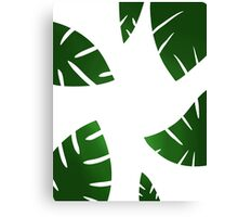 simplistic leaf design Canvas Print