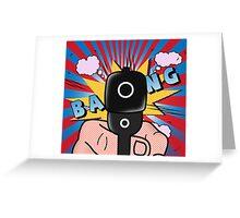 COMICS GUN  Greeting Card