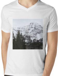 Snowy Striations Mens V-Neck T-Shirt