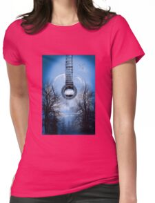 guitar nature  Womens Fitted T-Shirt