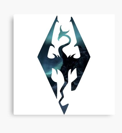 Skyrim - Elder Scrolls Aesthetic Canvas Print