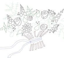 Shabby Chic Bouquet Doodle Sticker
