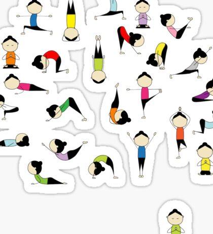 Yoga Pants Bali Krishna Sticker