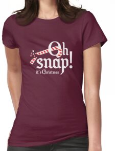 Oh Snap! It's Christmas Womens Fitted T-Shirt