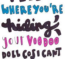 voodoo doll lyric art by artbyeilidh