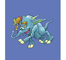Cartoon illustration, of a running creature. Photographic Print