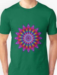 Woven Rainbow Fractal Flower Unisex T-Shirt