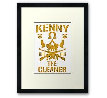 Kenny The Cleaner Framed Print