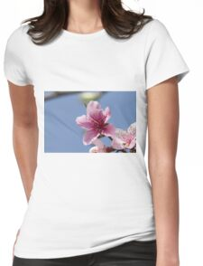 peach blossom in spring Womens Fitted T-Shirt