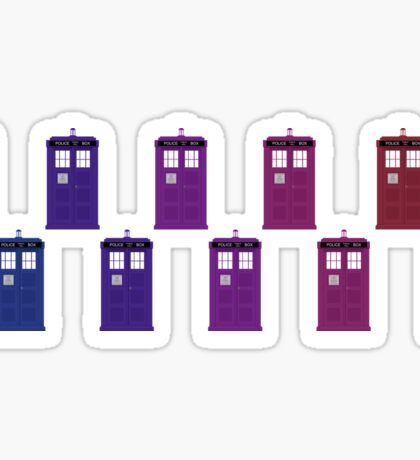 TARDIS Colour Flow Sticker