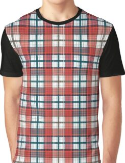 Colorful red grey plaid . Male, simple.  Graphic T-Shirt