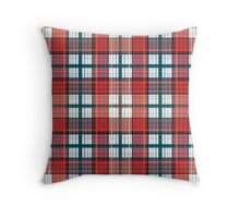 Colorful red grey plaid . Male, simple.  Throw Pillow