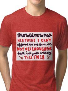 18 lyric art Tri-blend T-Shirt