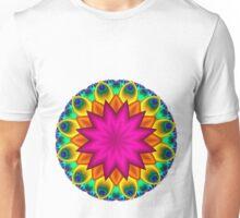 Peacock Fractal Flower I Unisex T-Shirt