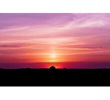 Violet Summer Sunrise Photographic Print