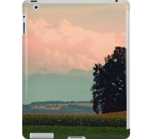 Trees, mountains and some clouds | landscape photography iPad Case/Skin