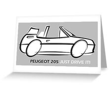 Peugeot 205 cabriolet Greeting Card