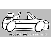 Peugeot 205 cabriolet Photographic Print