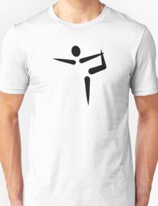 Yoga Gymnastics logo Unisex T-Shirt