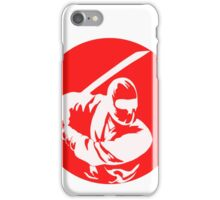 Ninja in a red circle Slice Red Circle Patch Sticker Shirt Everything is awesome iPhone Case/Skin