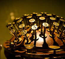 Golden Writing Machine by Alexandra Vaughan Photography