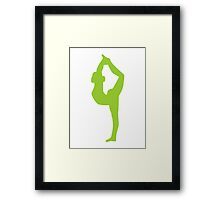 Yoga exercise Framed Print