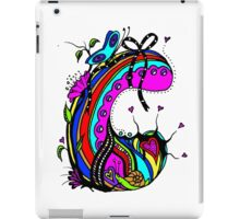 The Letter C  Coloured with Transparent Background iPad Case/Skin