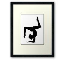 Yoga woman girl Framed Print