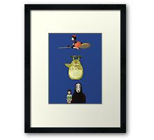 Ghibli Collection Framed Print
